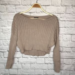 Express ribbed cropped sweater